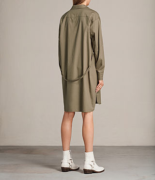 Womens Lamont Shirt Dress (Khaki Green) - product_image_alt_text_7