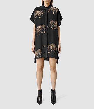 Women's Thea Shere Dress (Cinder Black)