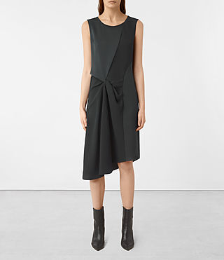 Damen Fern Dress (OIL BLACK)