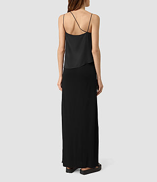 Mujer Mira Long Dress (Black) - product_image_alt_text_4