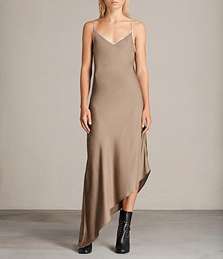 Womens Leah Dress (SAND YELLOW) - Image 1
