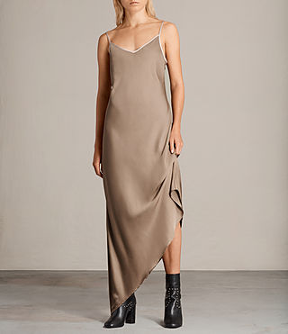Womens Leah Dress (SAND YELLOW) - product_image_alt_text_5