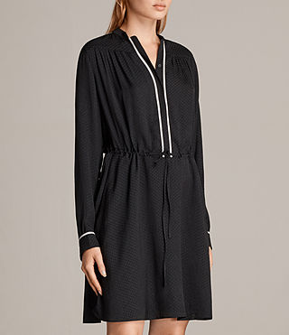 Women's Rica Dress (Black) - product_image_alt_text_6