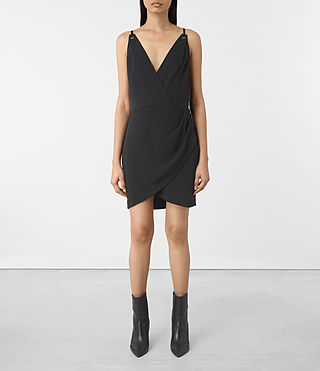 Mujer Cosmo Dress (OIL BLACK) - product_image_alt_text_1