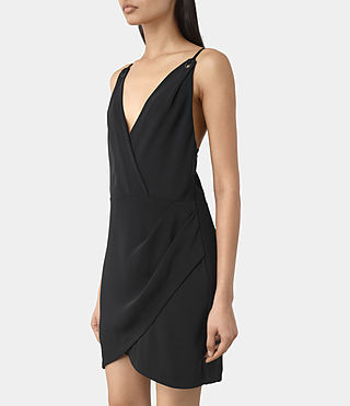 Mujer Cosmo Dress (OIL BLACK) - product_image_alt_text_3