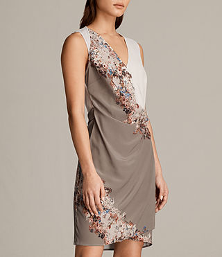 Women's Anika Clement Dress (TAUPE GREY) - Image 3