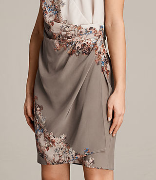 Women's Anika Clement Dress (TAUPE GREY) - Image 4
