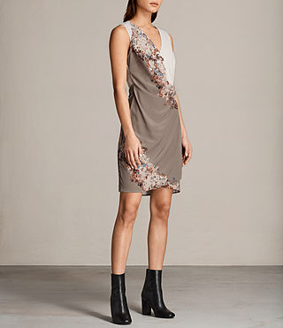 Women's Anika Clement Dress (TAUPE GREY) - Image 5