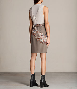 Women's Anika Clement Dress (TAUPE GREY) - Image 7