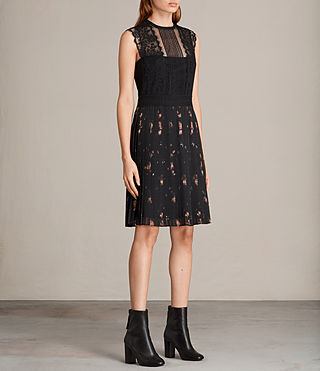 Womens Milen Maize Dress (Black) - Image 3