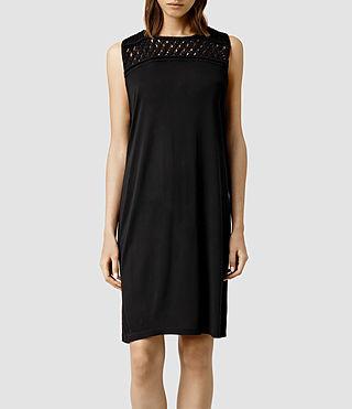 Womens Simmo Tee Dress (Jet Black)