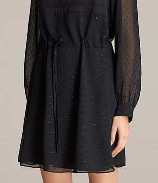 Womens Veda Shimmer Dress (Black) - Image 5
