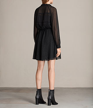 Women's Veda Shimmer Dress (Black) - product_image_alt_text_6