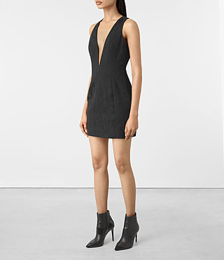 Damen Dalea Dress (Black) - product_image_alt_text_3