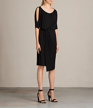 Womens Sina Dress (Black) - Image 2