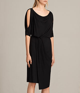 Womens Sina Dress (Black) - Image 6
