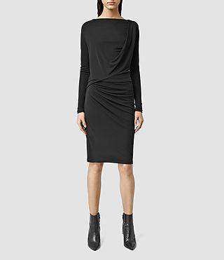 Women's Edge Long Sleeve Dress (Black)