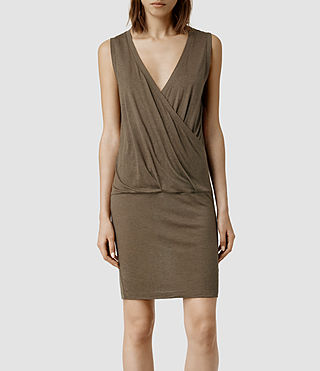 Womens Kerin Dress (Chocolate)