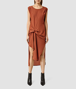 Womens Riviera Dress (Outback Orange)