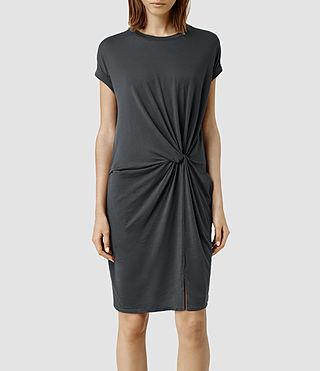 Womens Mast Devo Dress (Washed Black)