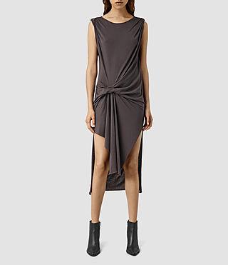 Womens Riviera Devo Dress (Washed Black)