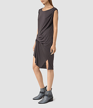 Womens Erin Devo Dress (Washed Black)
