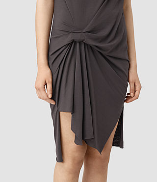 Womens Erin Devo Dress (Washed Black) - product_image_alt_text_2