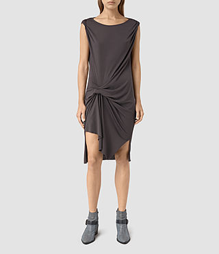 Womens Erin Devo Dress (Washed Black) - product_image_alt_text_3