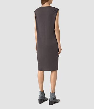 Womens Erin Devo Dress (Washed Black) - product_image_alt_text_4