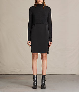 Womens Paro Dress (CINDER BLACK/BLACK)