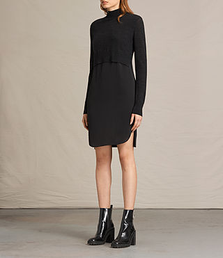 Women's Paro Dress (CINDER BLACK/BLACK) - product_image_alt_text_2