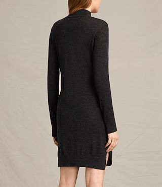 Women's Paro Dress (CINDER BLACK/BLACK) - product_image_alt_text_3