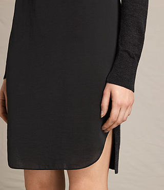 Women's Paro Dress (CINDER BLACK/BLACK) - product_image_alt_text_6
