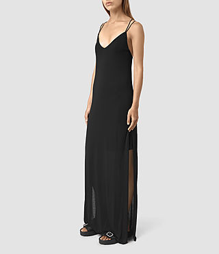 Womens Faye Dress (Black) - product_image_alt_text_3