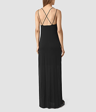 Women's Faye Dress (Black) - product_image_alt_text_4