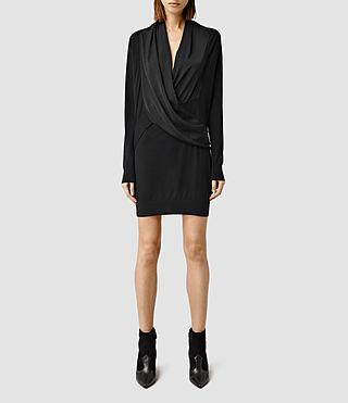 Women's Rola Panel Dress (Black)
