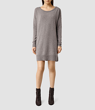 Womens Char Jumper Dress (PUTTY GREY MARL)