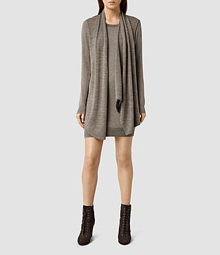 Womens Drina Sweater Dress (Fawn Brown Marl)