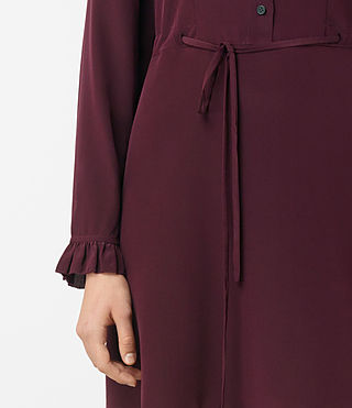 Womens Sora Silk Dress (Maroon) - product_image_alt_text_3