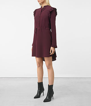 Womens Sora Silk Dress (Maroon) - product_image_alt_text_4