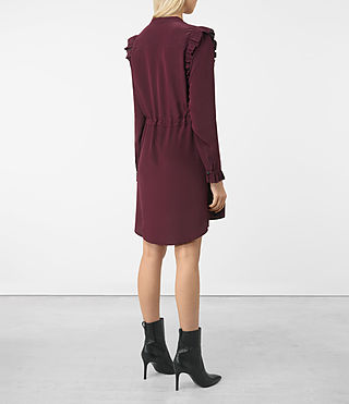 Womens Sora Silk Dress (Maroon) - product_image_alt_text_5