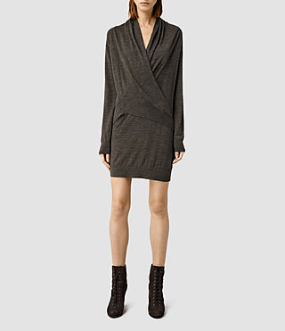 Womens Rola Twist Dress (Slate Black)