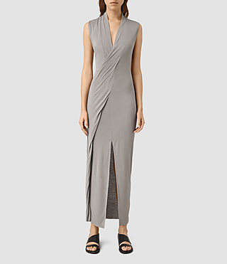Womens Long Siv Jersey Dress (Steeple Grey)