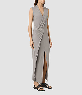 Womens Long Siv Dress (Steeple Grey) - product_image_alt_text_2