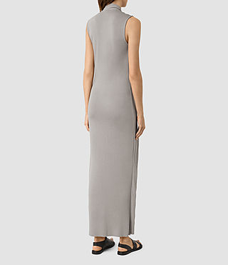 Womens Long Siv Dress (Steeple Grey) - product_image_alt_text_3