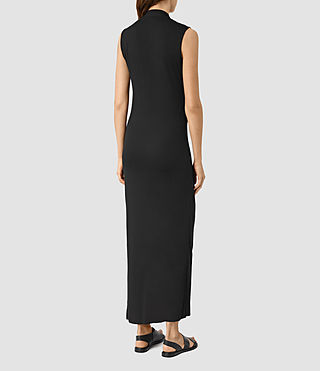Womens Long Siv Dress (Black) - product_image_alt_text_3