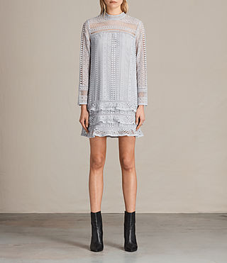 Mujer Vila Lace Dress (OFFSHORE GREY)