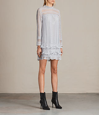 Womens Vila Lace Dress (OFFSHORE GREY) - product_image_alt_text_4