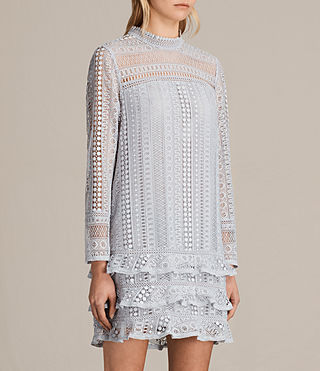Womens Vila Lace Dress (OFFSHORE GREY) - product_image_alt_text_6