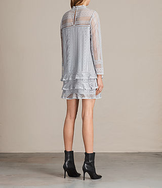 Womens Vila Lace Dress (OFFSHORE GREY) - product_image_alt_text_7